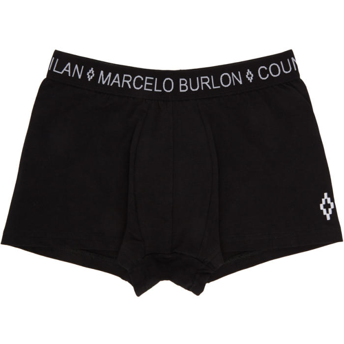 Photo: Marcelo Burlon County of Milan Black Cross Boxer Briefs