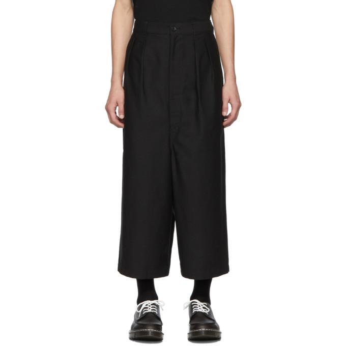 Photo: Comme des Garcons Homme Black Cotton Back Trousers