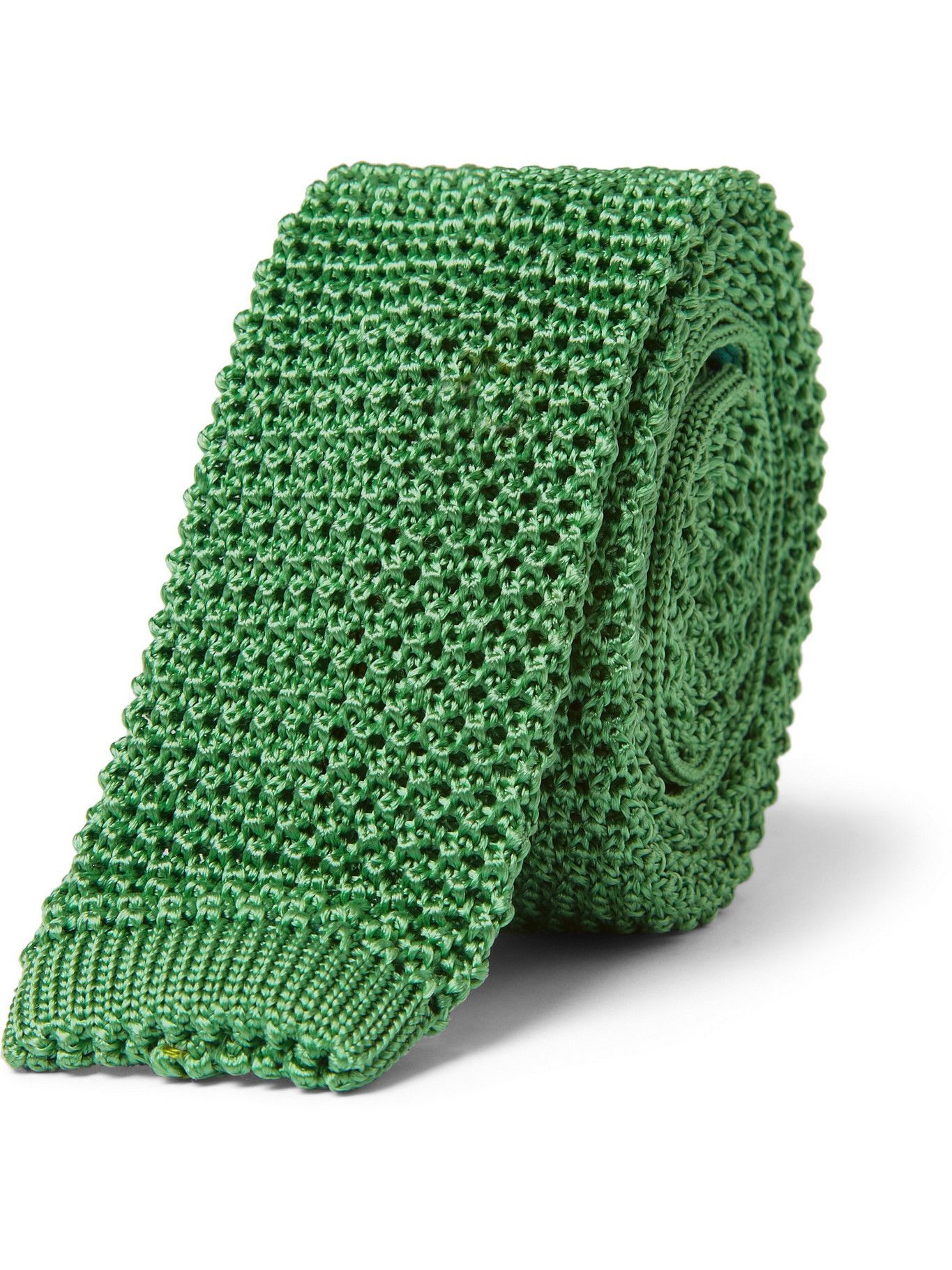 Photo: CHARVET - Knitted Silk Tie - Green