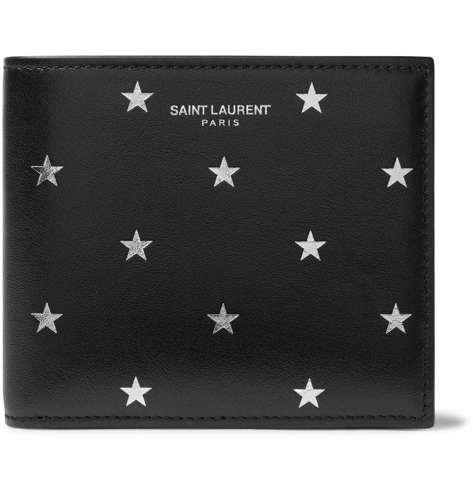 Photo: SAINT LAURENT - Printed Leather Billfold Wallet - Black