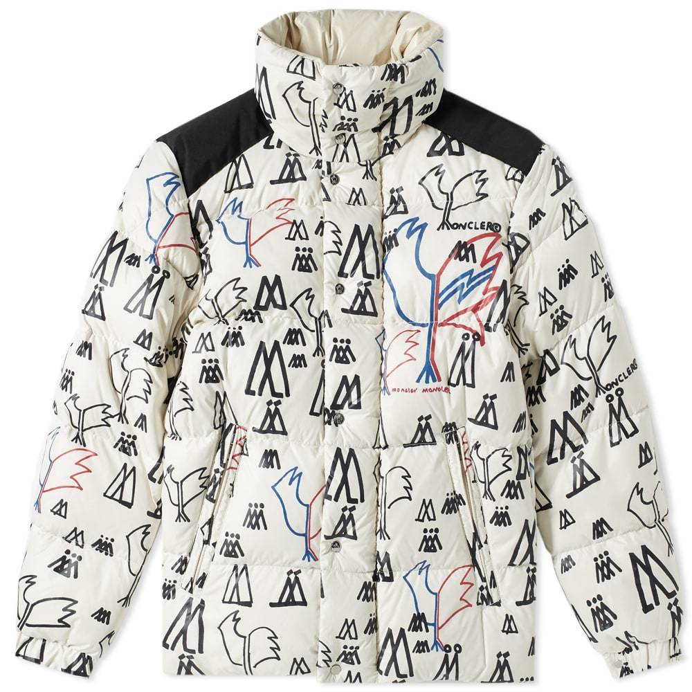 Photo: Moncler Genius 2 Moncler 1952 Marennes Print Down Jacket