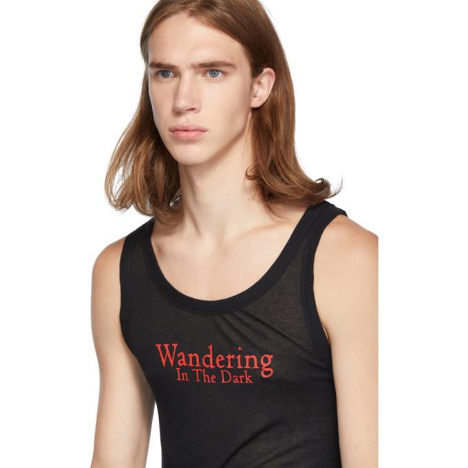 Ann Demeulemeester Black Wandering In The Dark Tank Top
