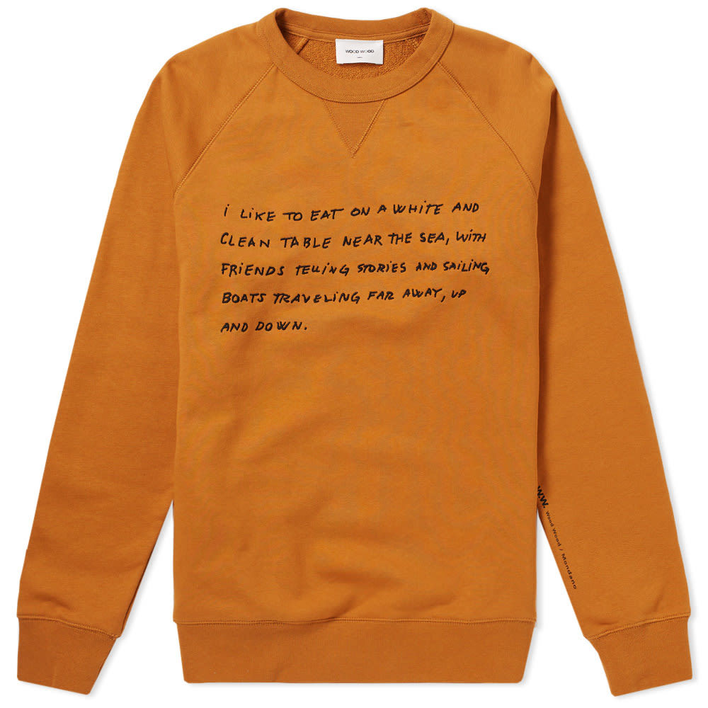 Photo: Wood Wood Hester Crew Sweat Orange