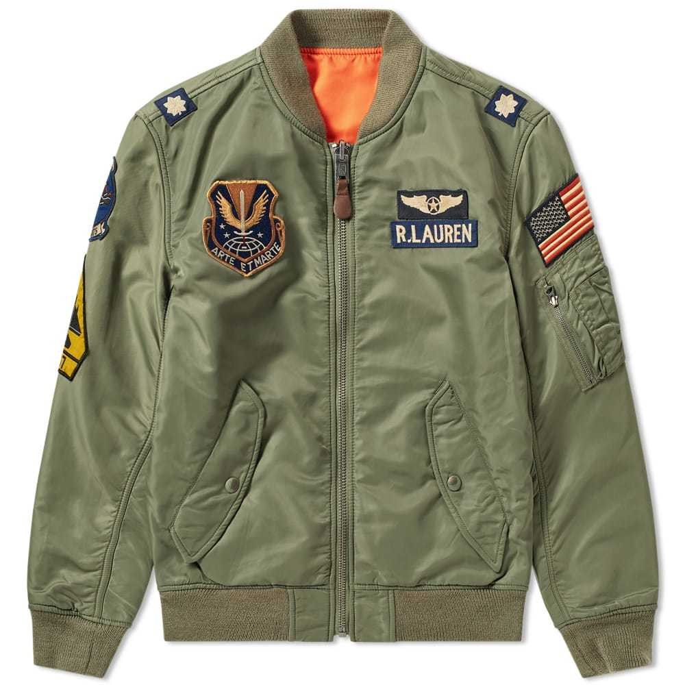 Photo: Polo Ralph Lauren Military Patches Bomber Jacket Bohemian Olive
