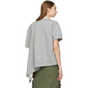 Sacai Grey Lace-Up Sweatshirt