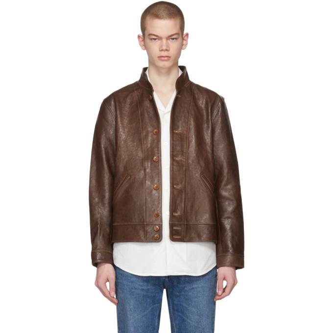 Photo: Levis Vintage Clothing Brown Menlo Cossack Leather Jacket