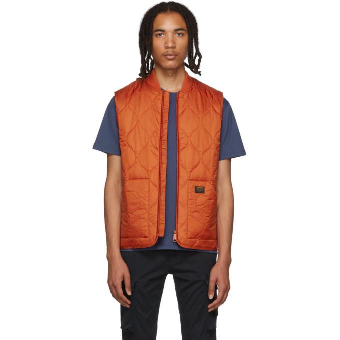 Photo: Carhartt Work In Progress Orange Volta Liner Vest