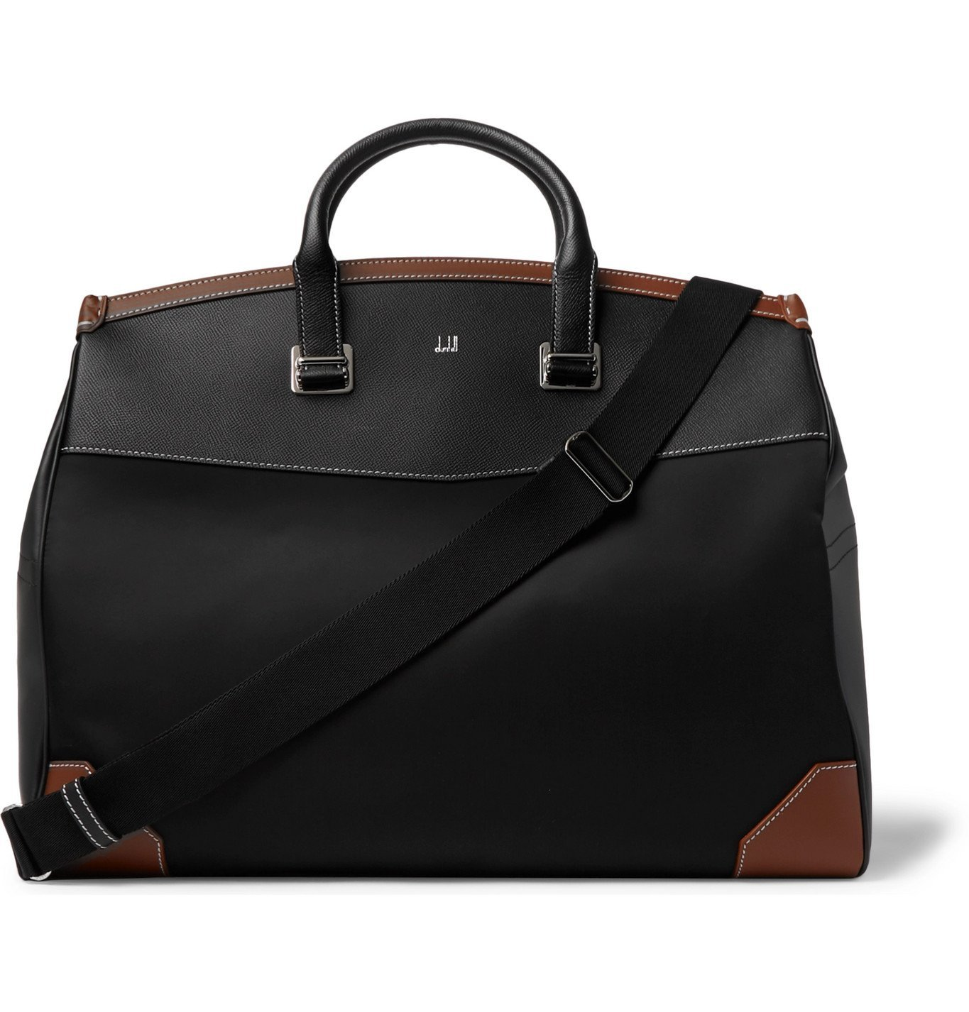 Photo: Dunhill - Shell and Leather Holdall - Black