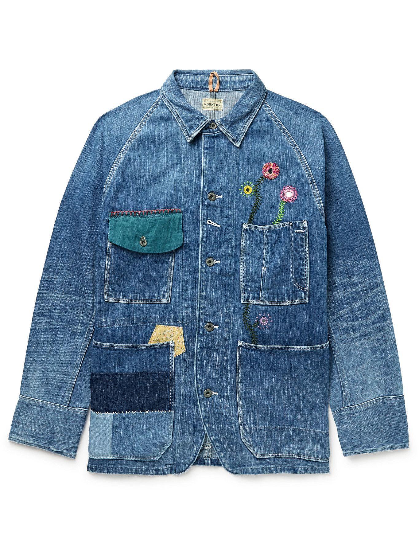 Photo: KAPITAL - Appliquéd Embellished Denim Jacket - Blue