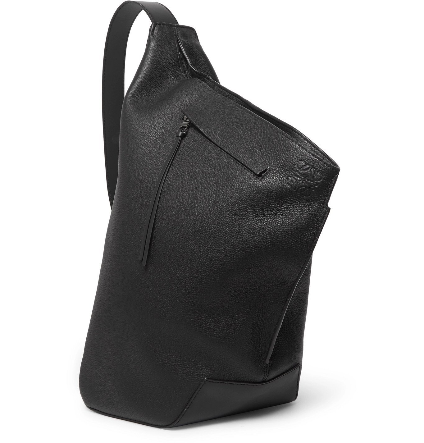 Photo: Loewe - Anton Leather Sling Backpack - Black