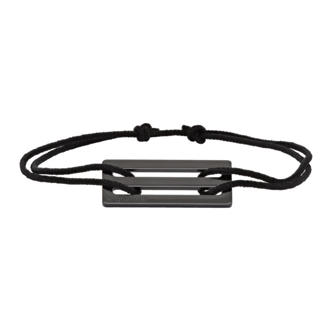 Photo: Le Gramme Black Ceramic Le 1.7 Grammes Cord Bracelet