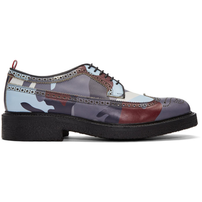 Photo: Moncler Gamme Bleu Multicolor Camo Brogues