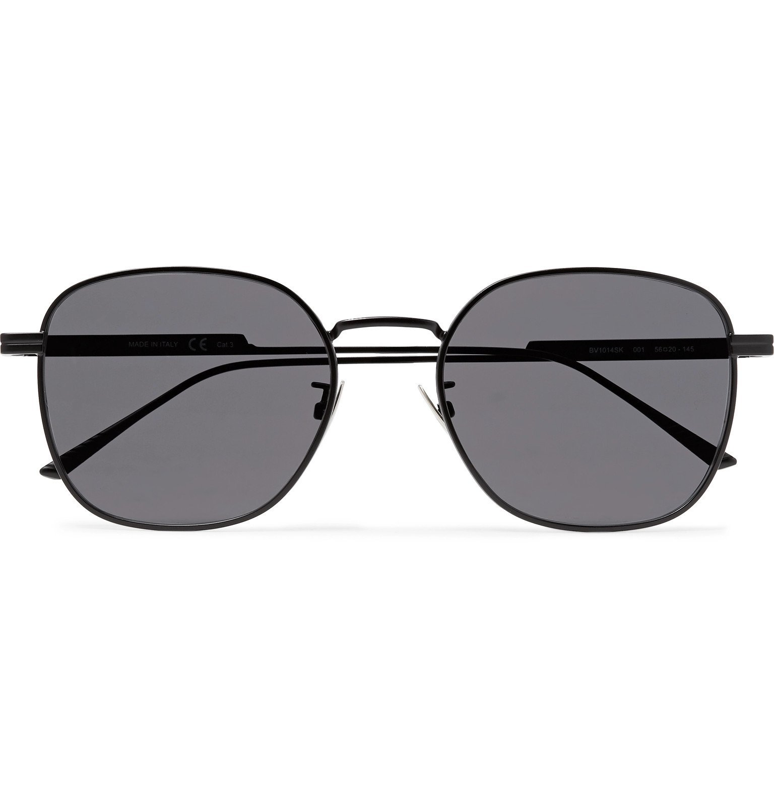 Photo: Bottega Veneta - Square-Frame Metal Sunglasses - Black