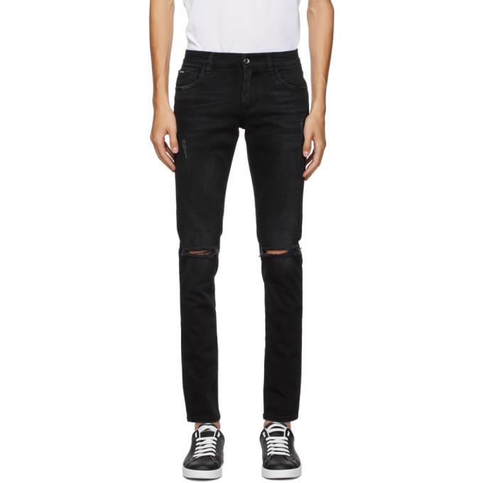Photo: Dolce and Gabbana Black Slim Jeans
