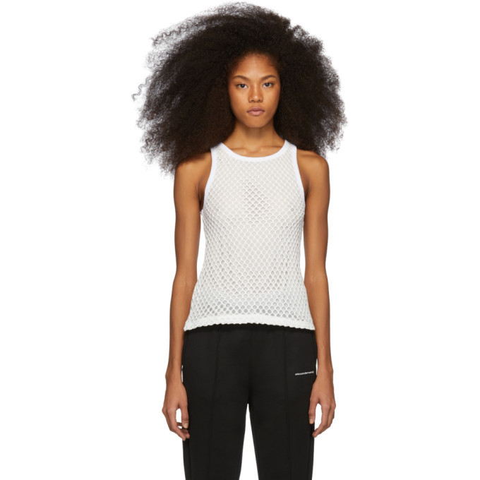 Photo: alexanderwang.t White Mesh Tank Top