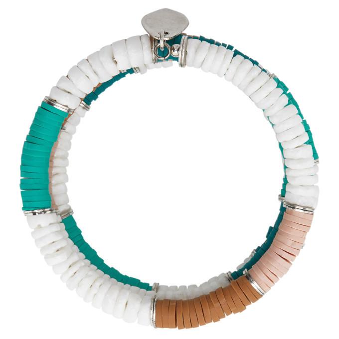 Photo: Isabel Marant Green and White Shell Wrap Bracelet
