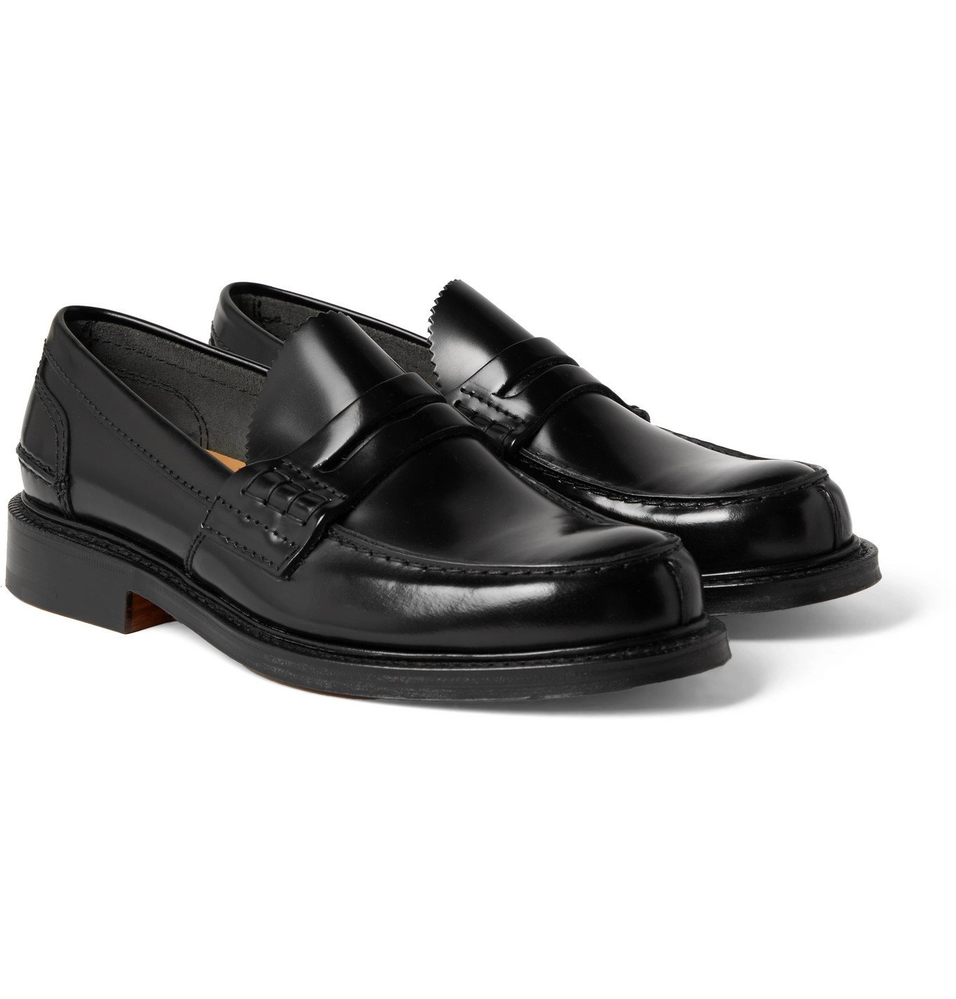 Photo: Church's - Willenhall Bookbinder Fumè Leather Penny Loafers - Black