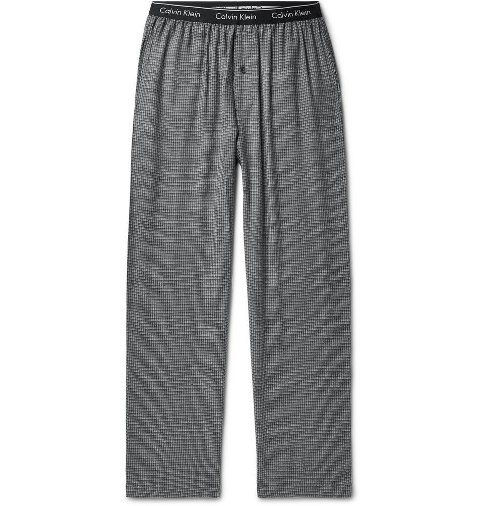 Photo: Calvin Klein Underwear - Checked Cotton-Blend Pyjama Trousers - Gray