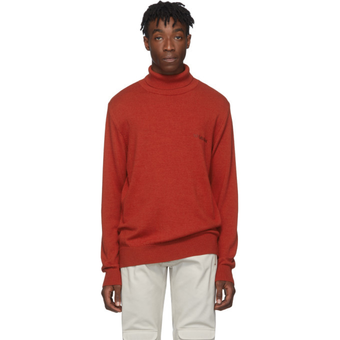Photo: Han Kjobenhavn Red Merino Logo Turtleneck
