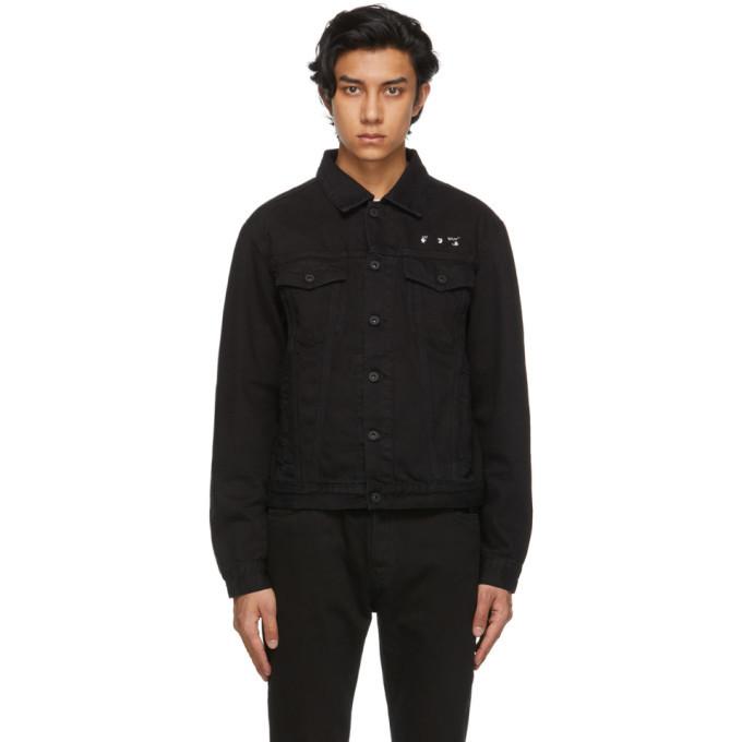 Photo: Off-White Black Marker Slim Denim Jacket