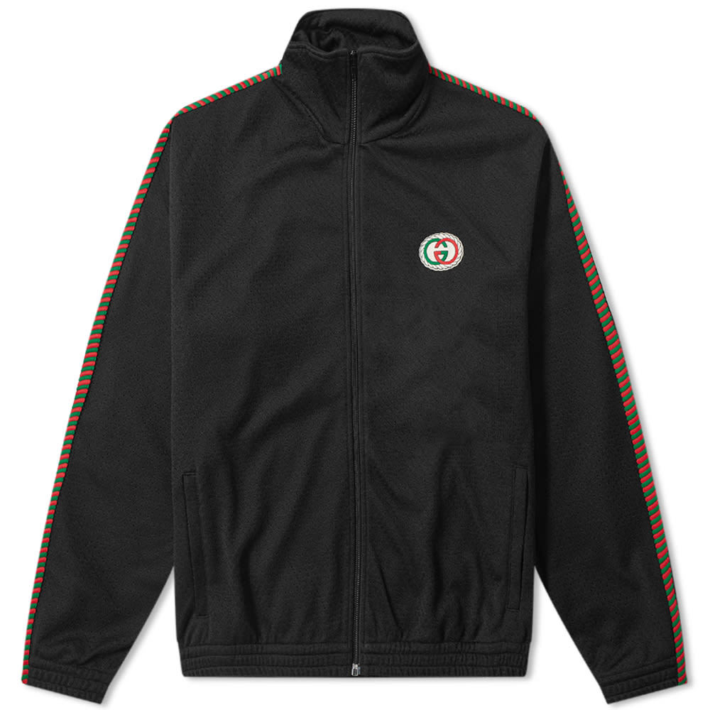 Photo: Gucci Airtex Rope Taped GG Logo Track Jacket