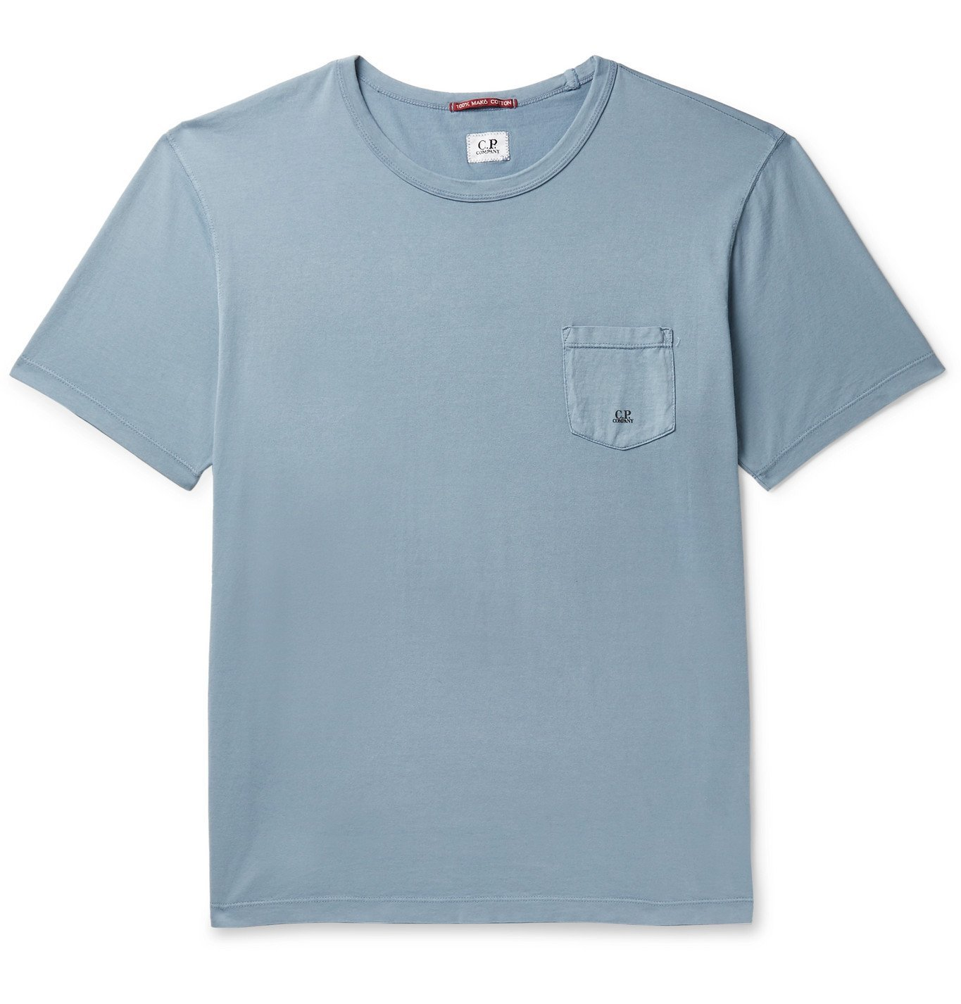 Photo: C.P. Company - Logo-Embroidered Mako Cotton-Jersey T-Shirt - Blue
