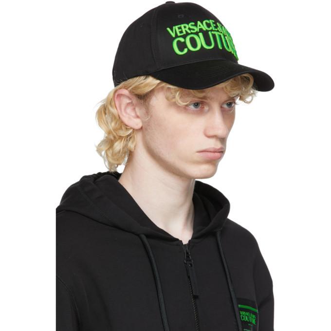 Versace Jeans Couture Black Logo Cap