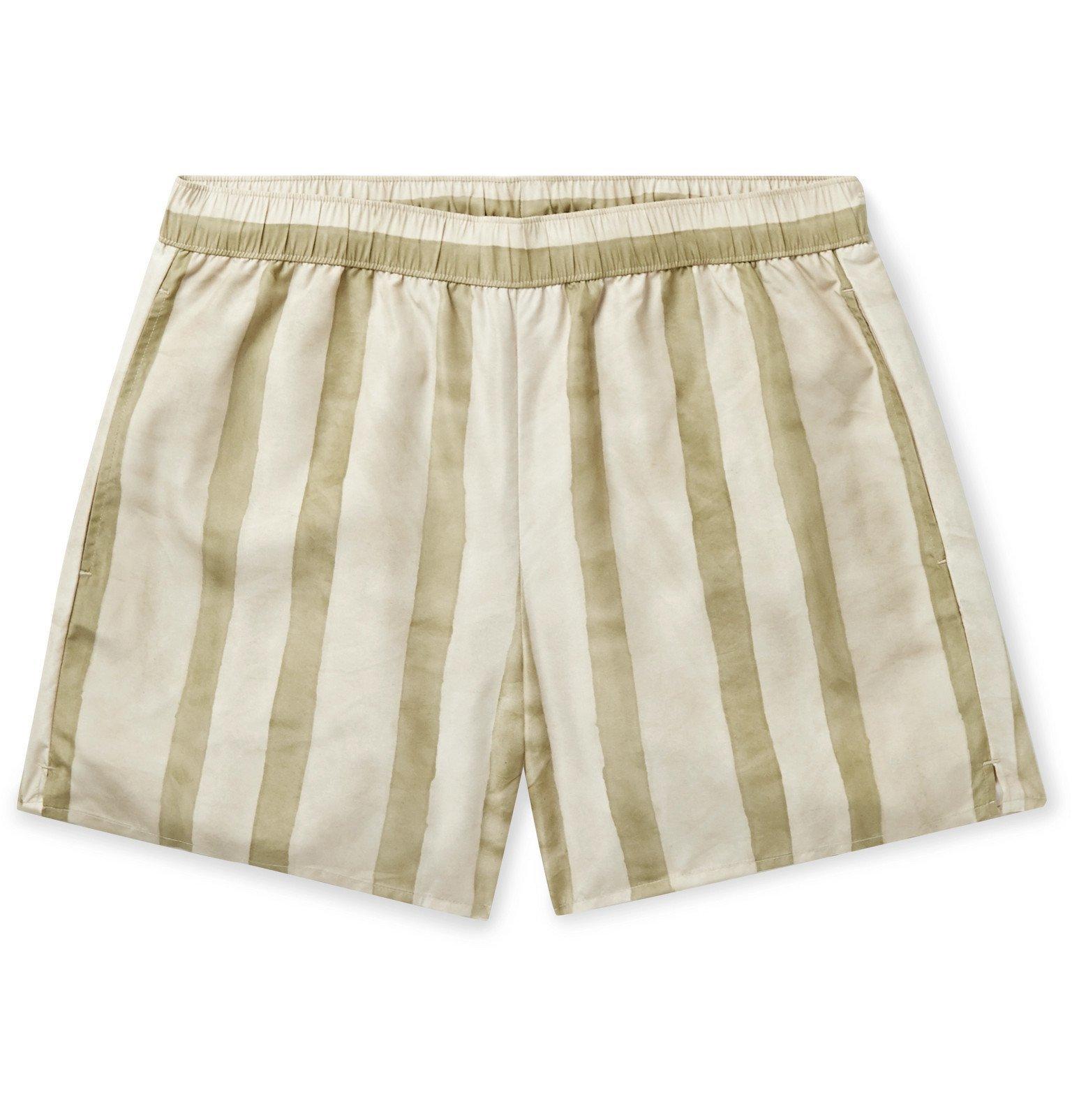 Photo: Acne Studios - Warrick Slim-Fit Mid-Length Striped Swim Shorts - Neutrals