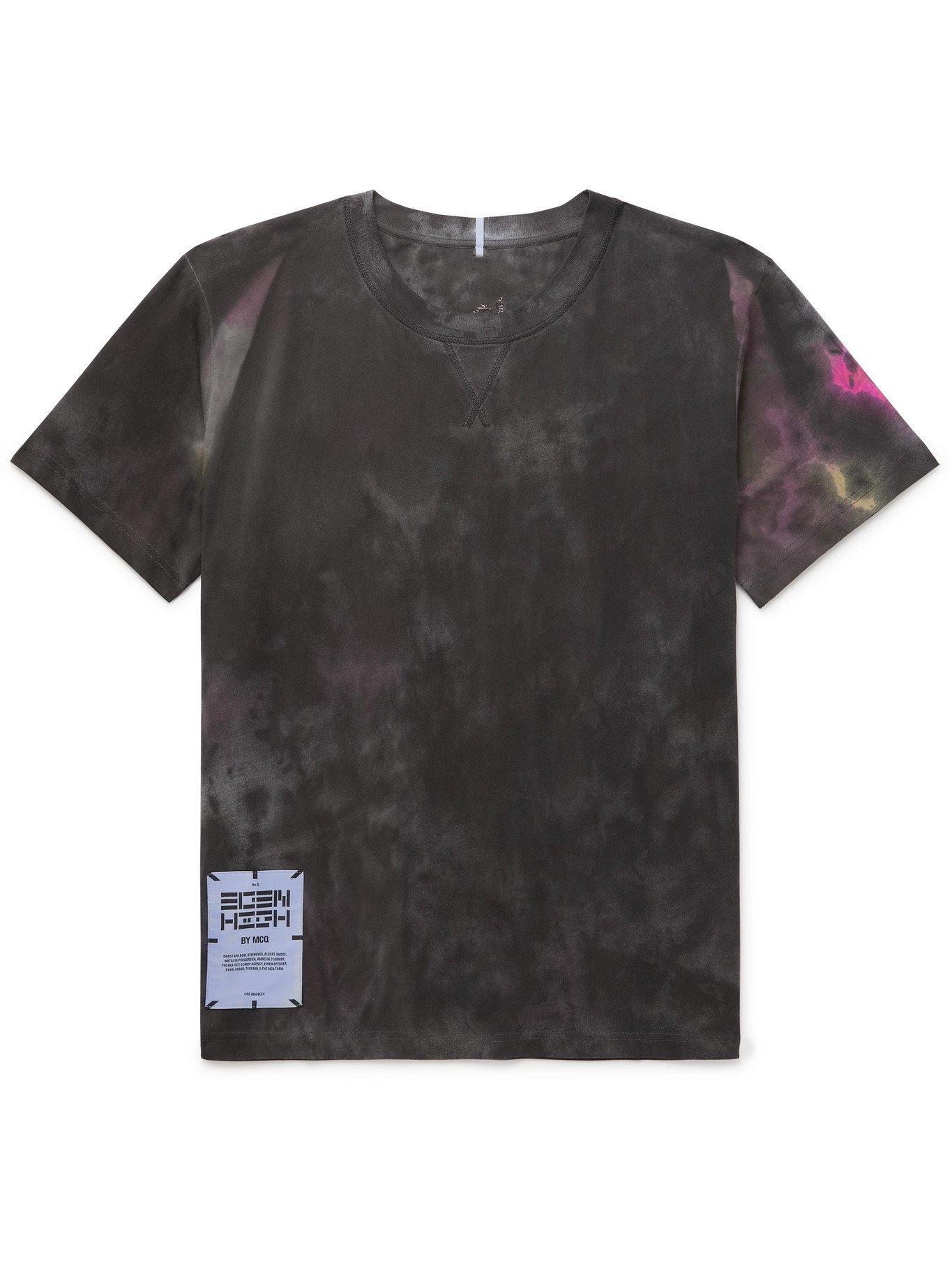 MCQ - Logo-Appliquéd Tie-Dyed Cotton-Jersey T-Shirt - Gray
