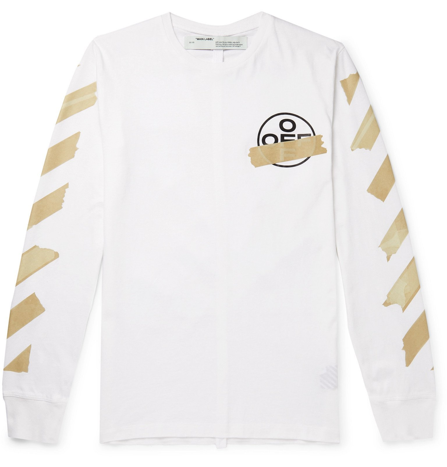 Photo: Off-White - Slim-Fit Logo-Print Cotton-Jersey T-Shirt - White