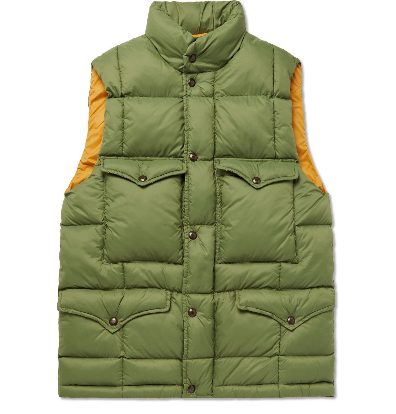 Photo: RRL - Haines Quilted Shell Gilet - Green