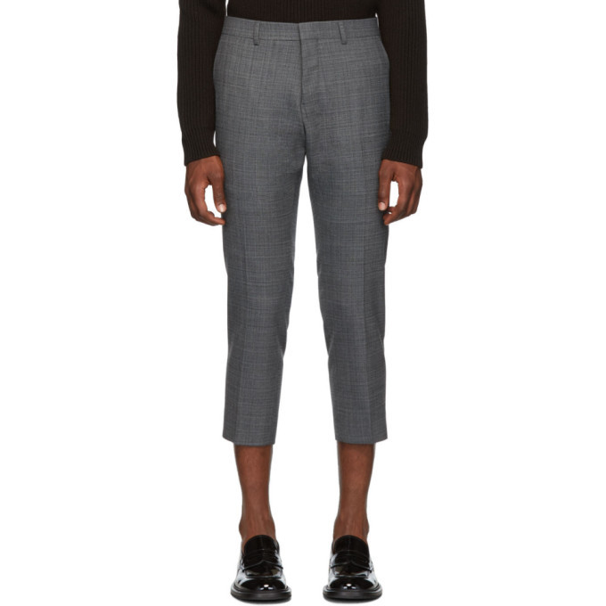 Photo: AMI Alexandre Mattiussi Grey Cropped Trousers