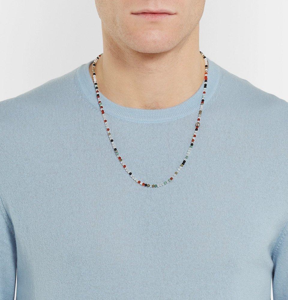 Bottega Veneta - Silver Agate Necklace - Men - Multi