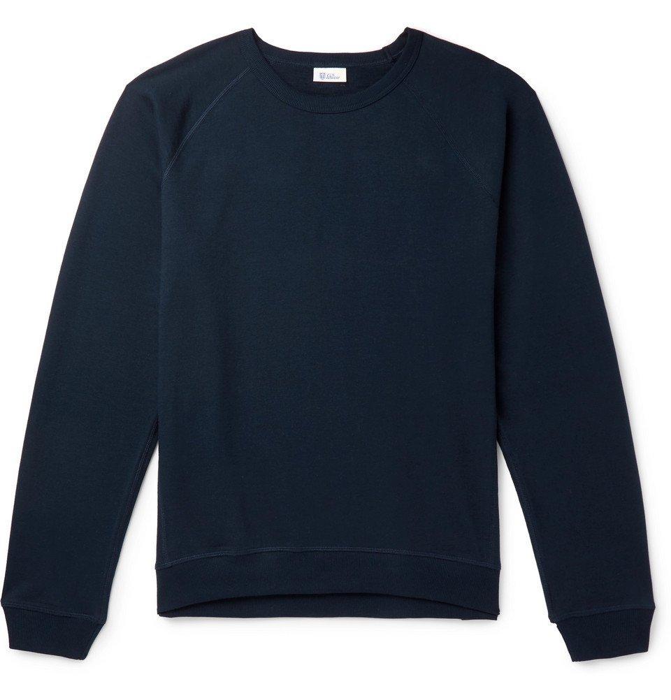 Schiesser - Oskar Loopback Cotton-Blend Jersey Sweatshirt - Navy