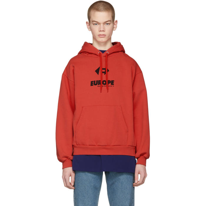 Photo: Balenciaga Red Europe Hoodie