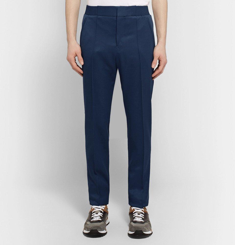 Berluti - Blue Slim-Fit Wool-Twill Trousers - Navy