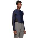 GmbH Blue Recycled Technical Long Sleeve T-Shirt