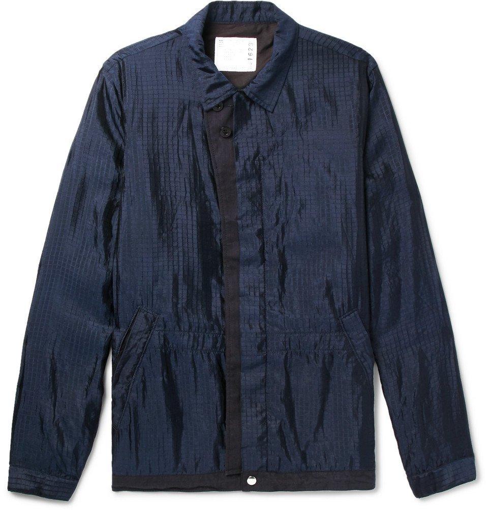 Sacai - Silk-Blend Ripstop Jacket - Men - Navy