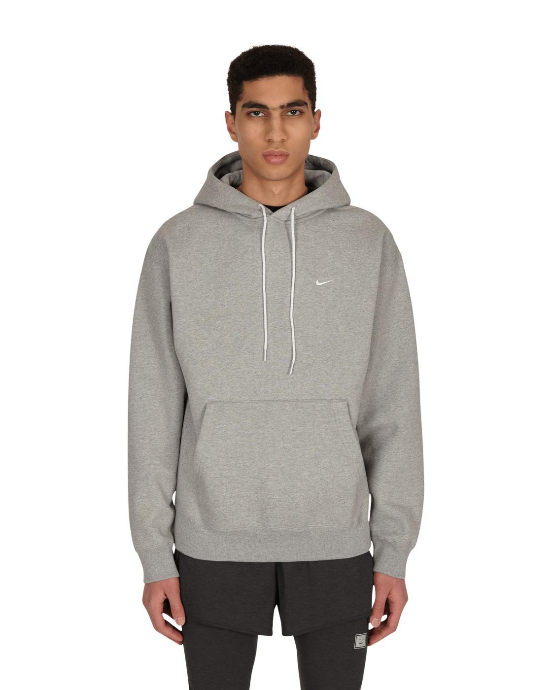 Nike Special Project Logo Hooded Sweatshirt Dk Grey Heather/White