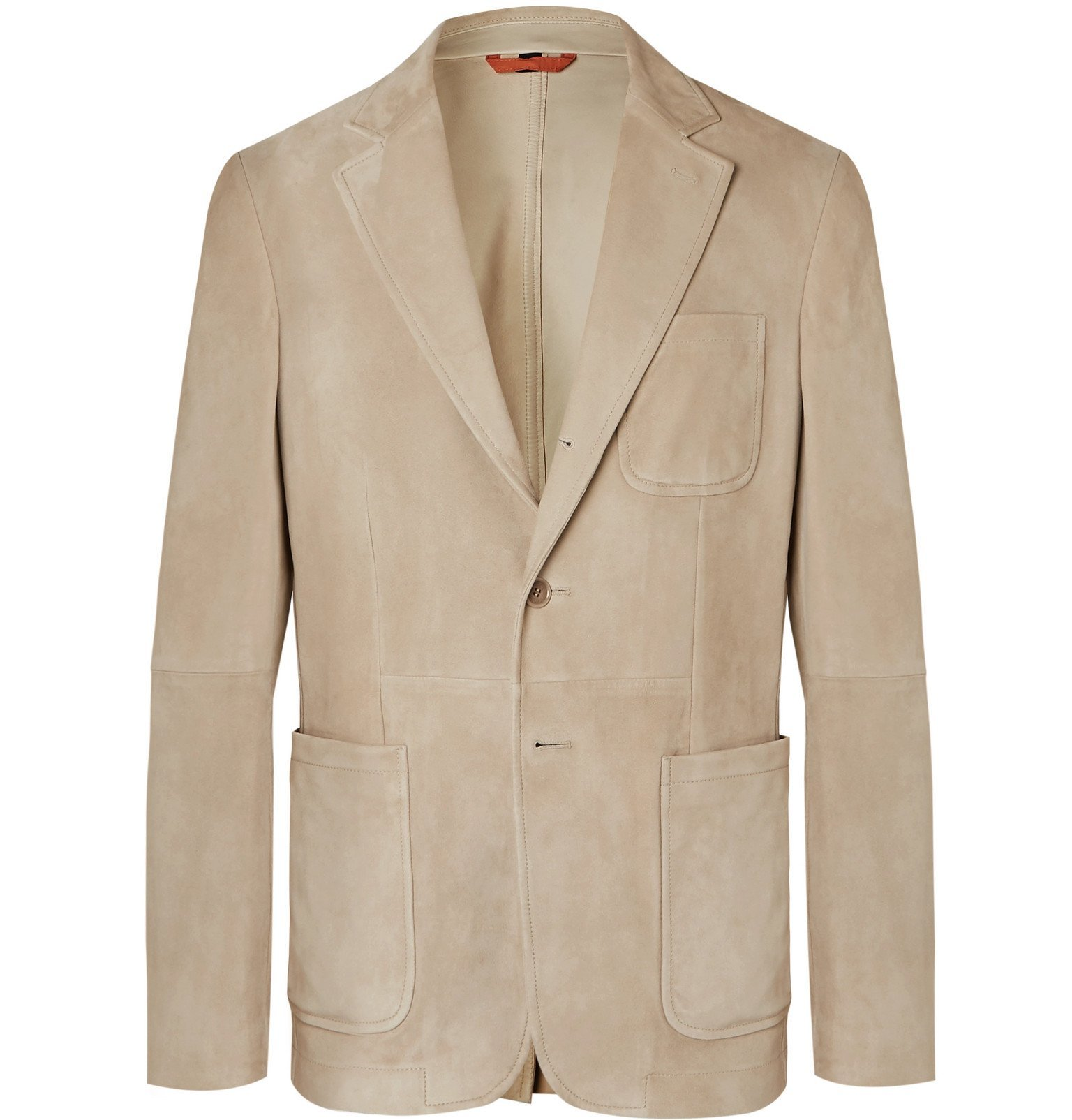 Photo: Tod's - Slim-Fit Unstructured Suede Blazer - Neutrals