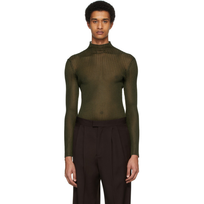 Photo: Dion Lee Khaki Corrugated Turtleneck
