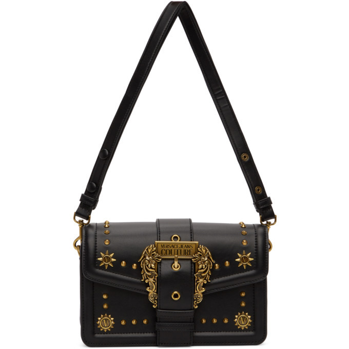 Photo: Versace Jeans Couture Black Cowboy Buckle Bag