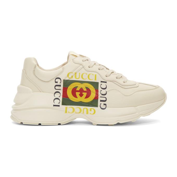 Photo: Gucci Off-White Box Logo Ryhton Sneakers