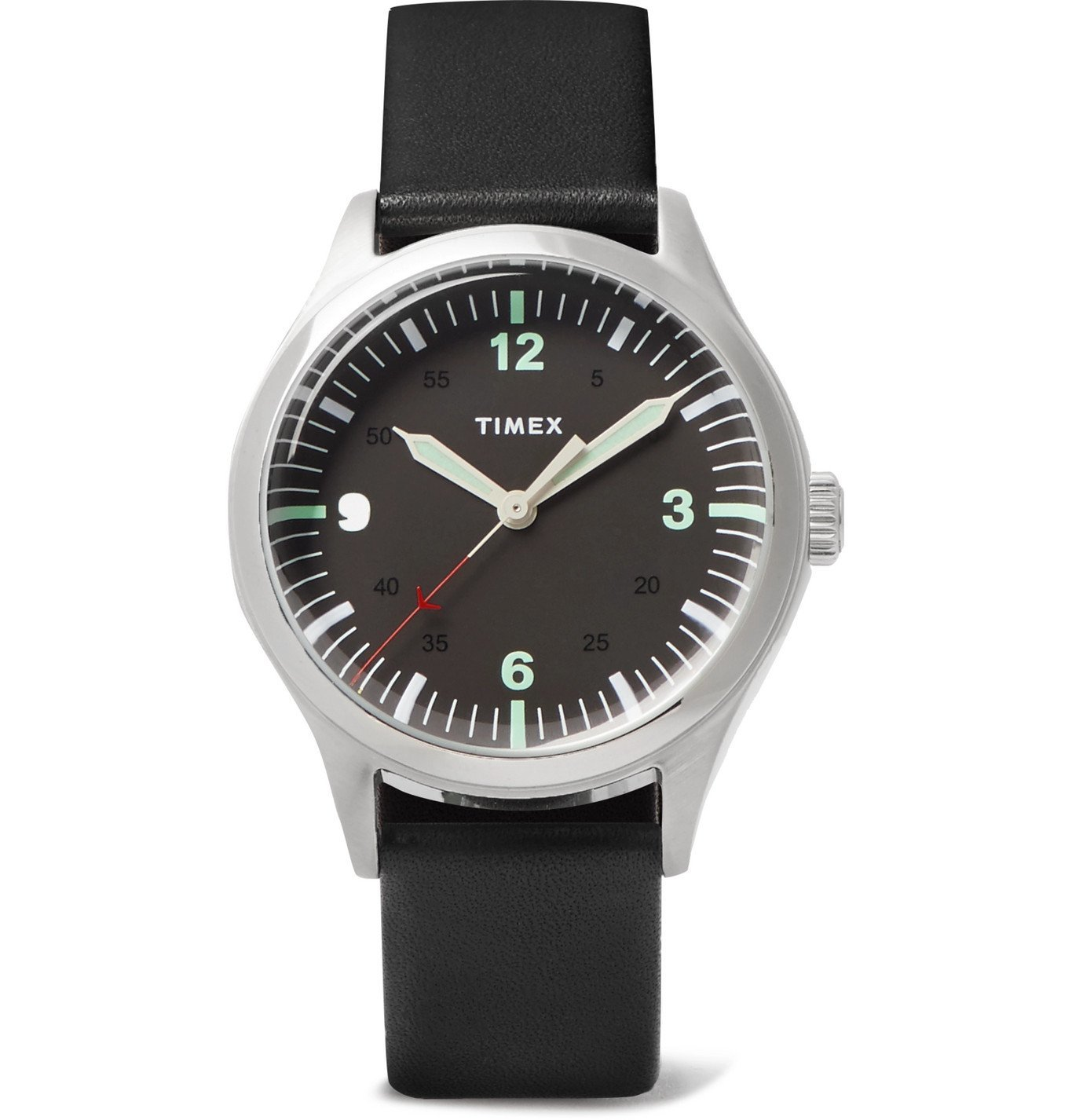 Photo: Timex - Waterbury 38mm Stainless Steel and Leather Watch - Black