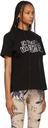 Sacai Black Jean Paul Gaultier Edition 'Enfants Terribles' Emblem T-Shirt