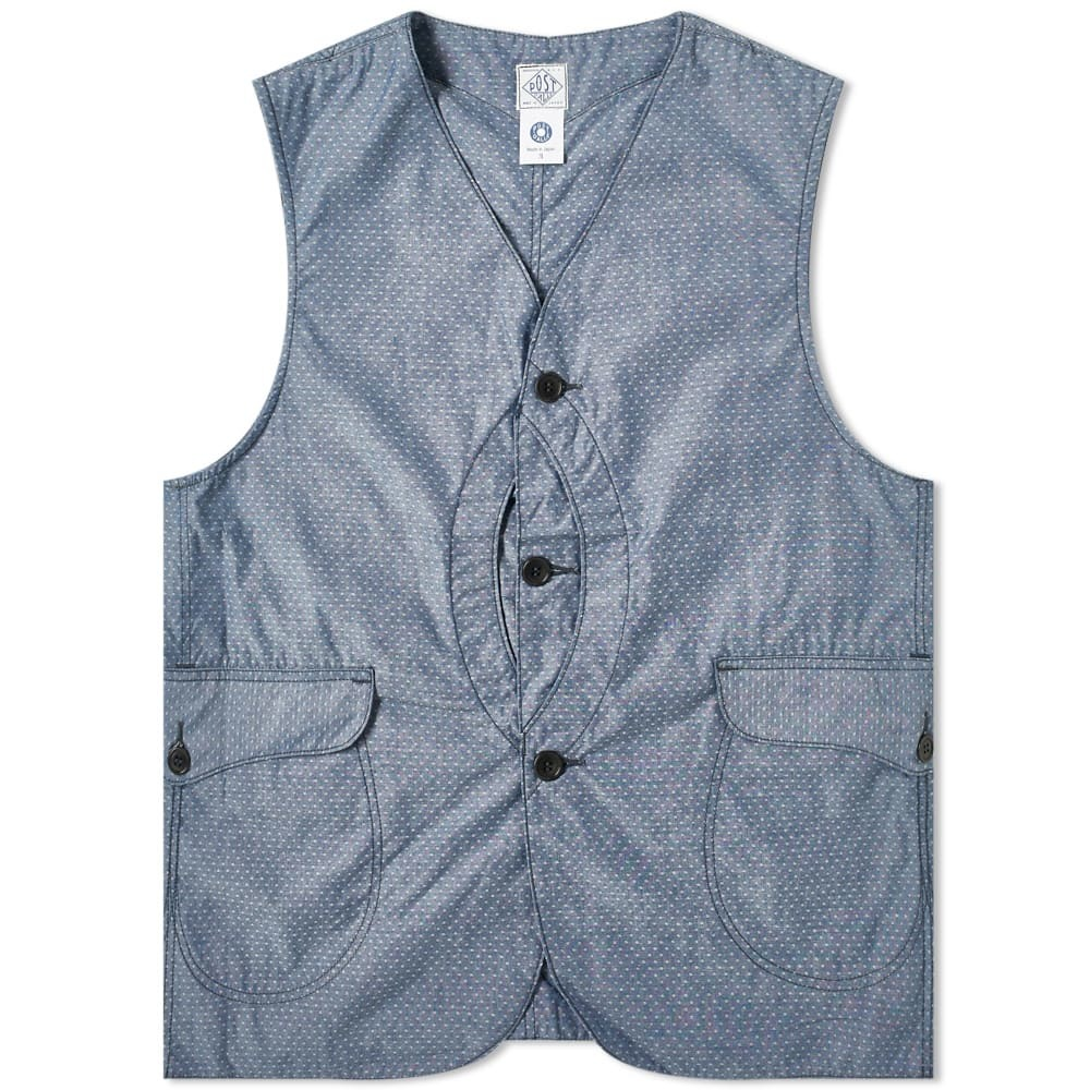 Photo: Post Overalls Royal Traveller Button Vest