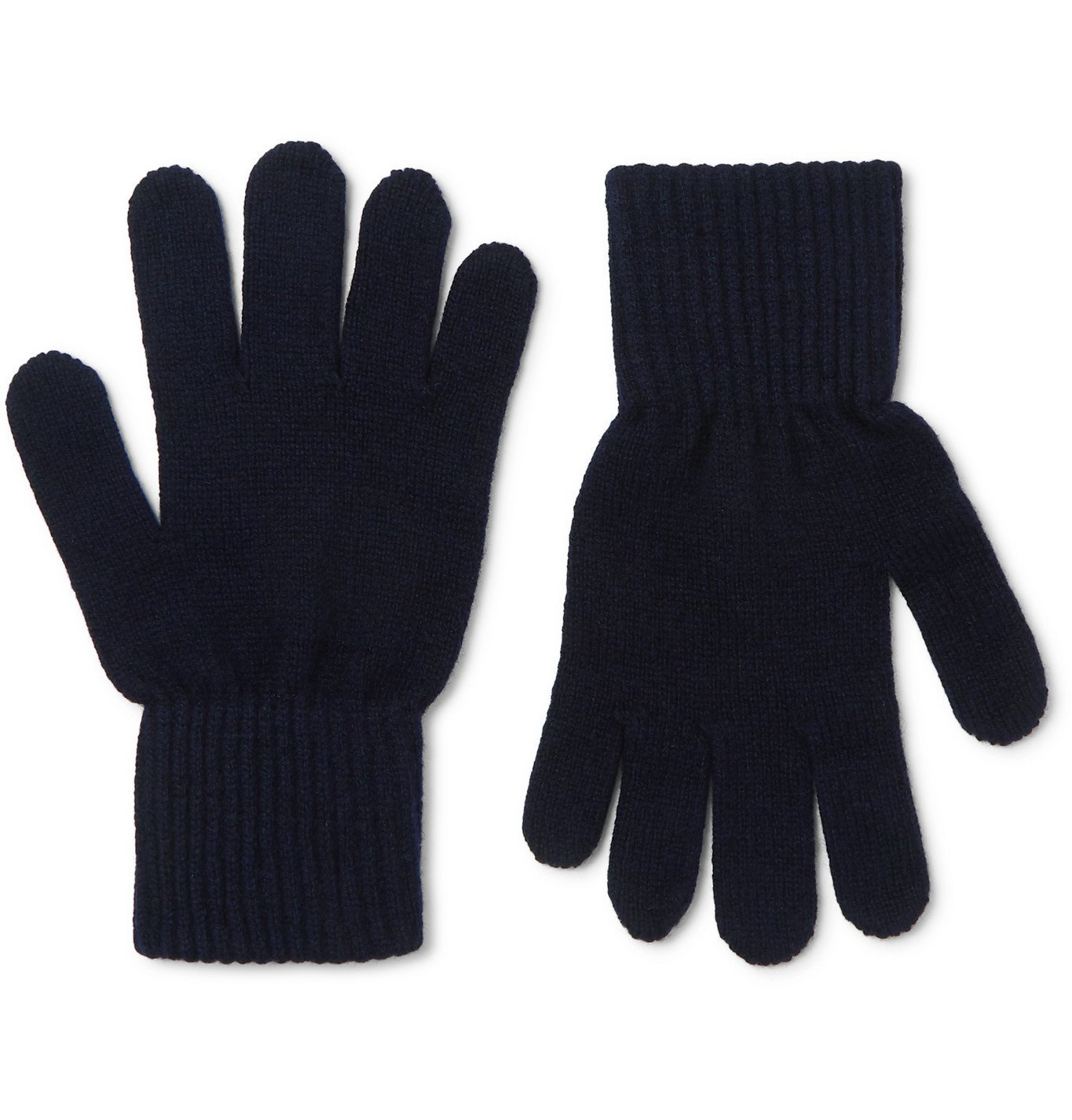Photo: A.P.C. - Merino Wool and Cashmere-Blend Gloves - Blue