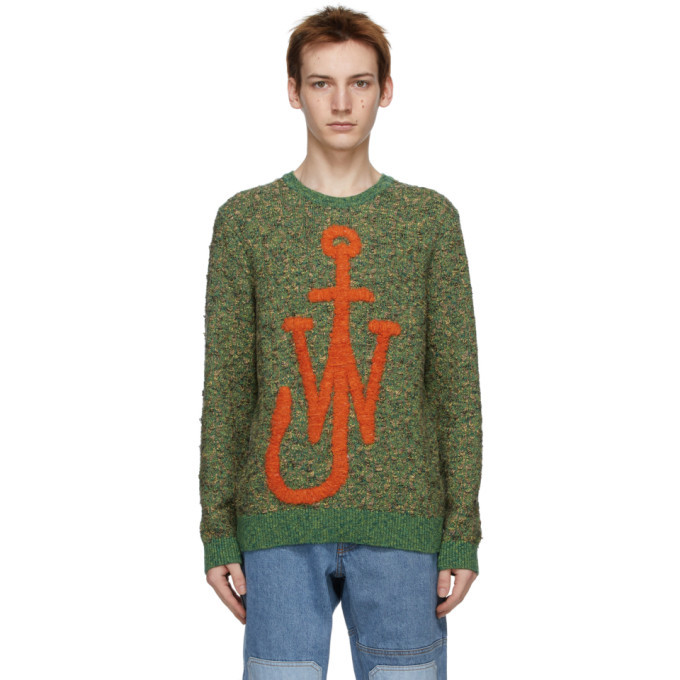 Photo: JW Anderson Green Textured Anchor Jumper