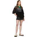 3.1 Phillip Lim Black Wool Open Knit Polo Dress