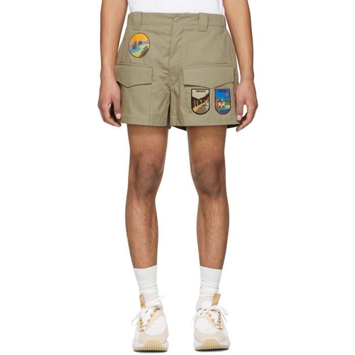 Acne Studios Beige Ariq Patch Shorts